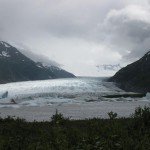 Spencer glacier on the lake where we boarded the rafts.