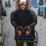 Maxine celebrating the sled dog history of Alaska.