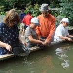Panning for gold, with a lesson from one of the family who run the place.