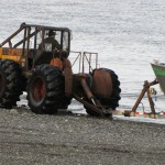 Launching boats via tractor across the beach was new to me.
