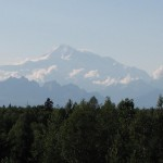 When the clouds cleared, we got our first view of Denali.