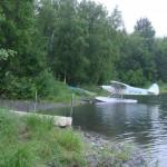 Boat launch into Christiansen Lake, a popular float plane spot.