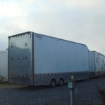 The double-stack trailers.