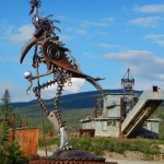Chicken of La Manch statue, and the dredge.