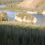 Five fingers rapids on the Yukon River.