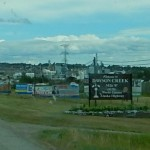 Dawson Creek is provides support services for the oil and gas  work up the hiway.