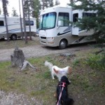 Our RV in the Camp Tamarack Park.