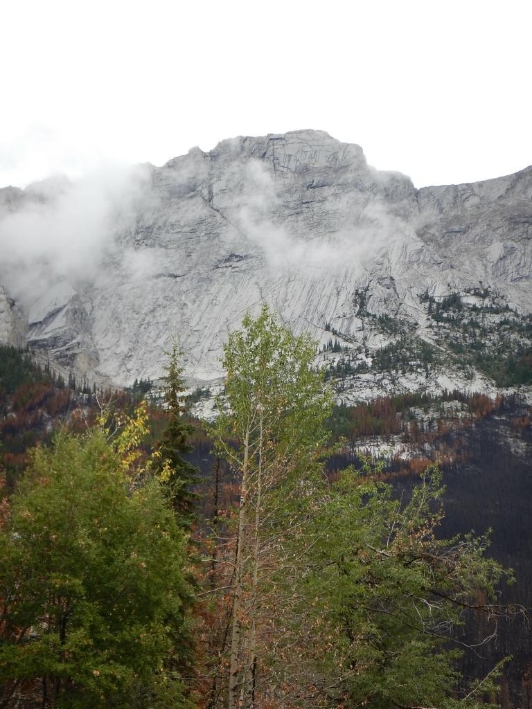 The mountain peaks were largely obscured by clouds, but sometimes the mist added to the view.