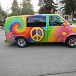 I was surprised this was not a VW. But then I saw more painted vans and the rental website on the back.