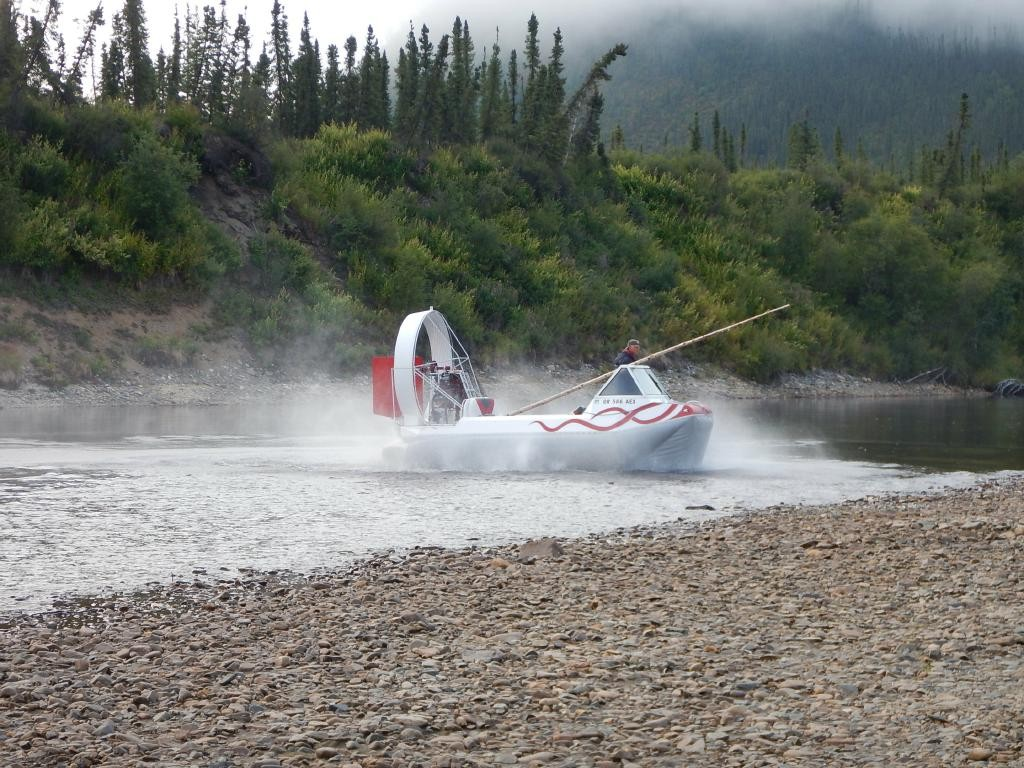 I love the air boats. Not just for the bayous, these things are the best way to get around while gold hunting in the 40 Mile River area of Alaska.