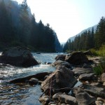 Gallatin River canyon.