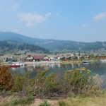 This is the Yellowstone Holiday RV Park from the jetty around their marina.