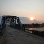 Smoky sunrise over the Madison River at 3 Dollar Bridge.