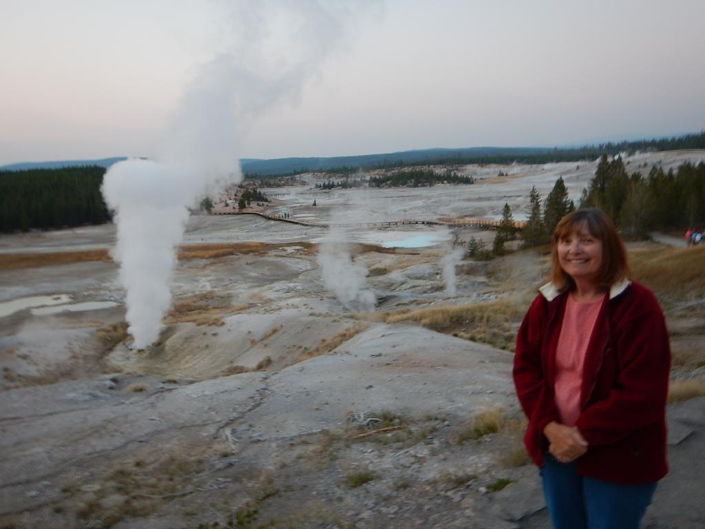 Maxine at the Norris Geyser Basin.