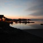 Smoky-sky sunset at the marina.