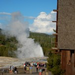 Old Faithful winding down.