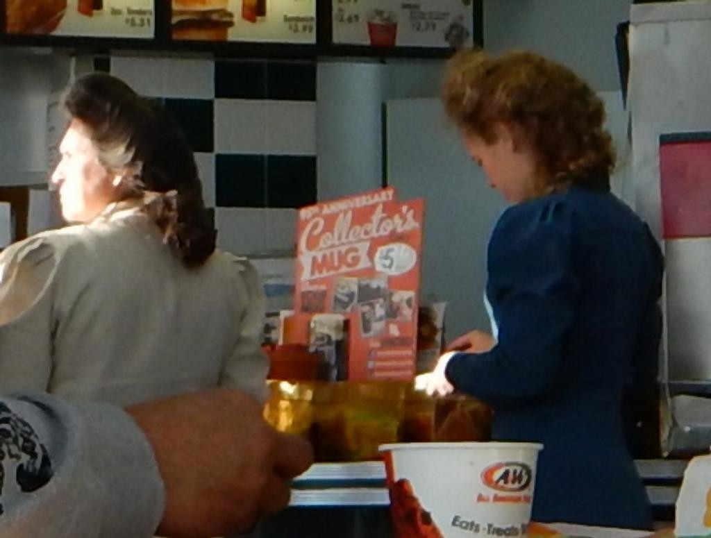 Near the RV Park in ID is an A&W. Sister wives like root beer floats, we found.