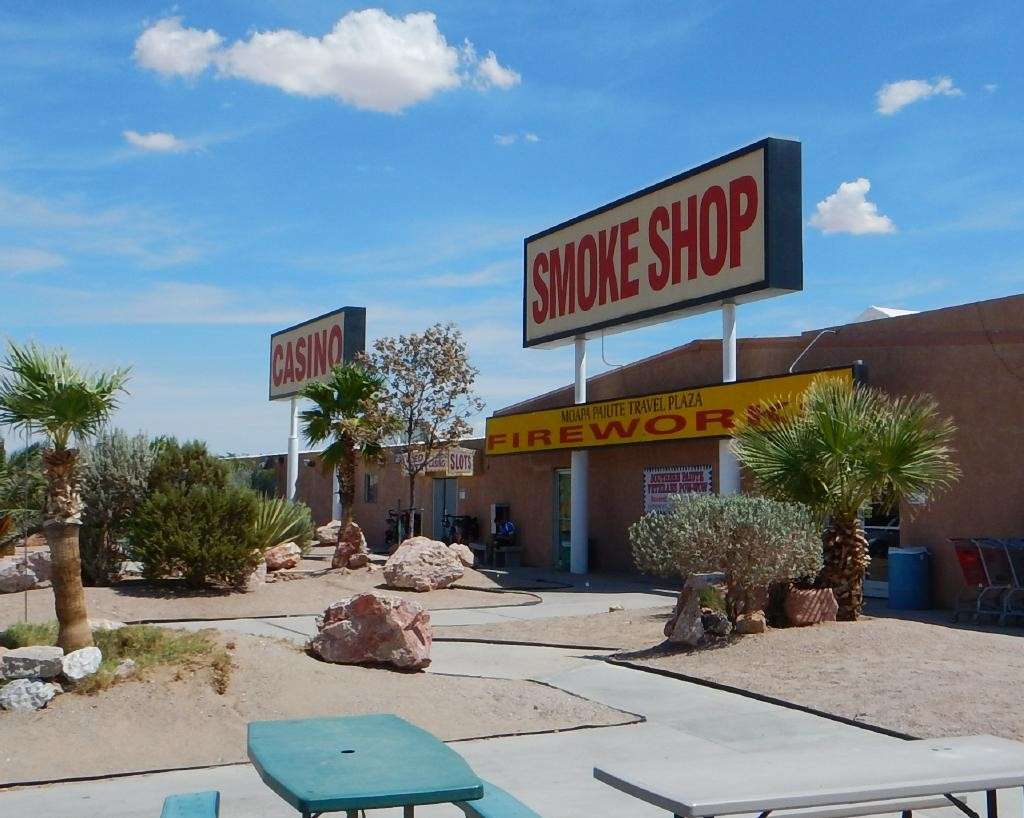We stopped for lunch at a random off ramp and found this, the Moapa Paiute travel center. This is about 20 miles east of Las Vegas on Hiway 15 and they have a great selection of fire crackers and other explosives.
